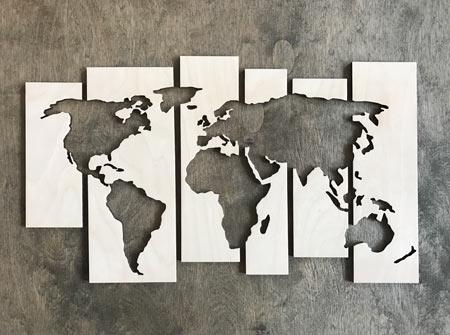 Mapa sveta - veľkosť S (32 x 19 cm)