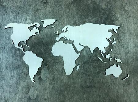 Kontinenty - veľkosť XL (84 x 50 cm)