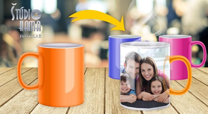 Fotka zľavy: Originálny hrnček s vlastnou potlačou - vychutnajte si tie najkrajšie okamihy s vašimi blízkami každým dúškom. Originálny darček navyše aj v magickom prevedení!