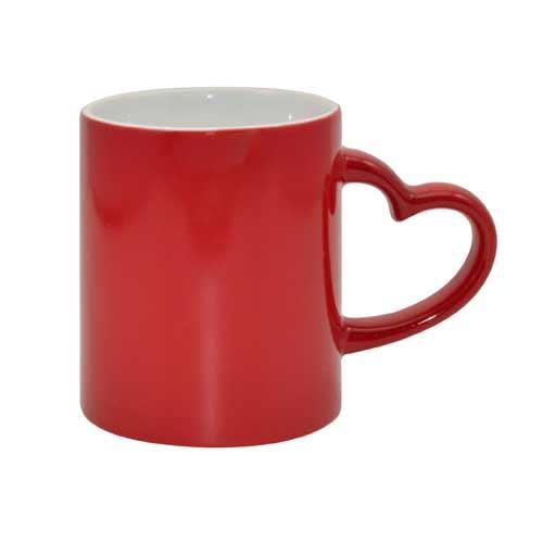 Hrnček s vlastnou potlačou - magický červený so srdiečkom