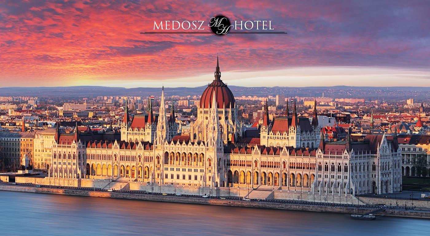 Budapešť: Pobyt v Hoteli Medosz*** na 3 alebo 4 dni pre 2 osoby so vstupom do Szechenyi kúpeľov