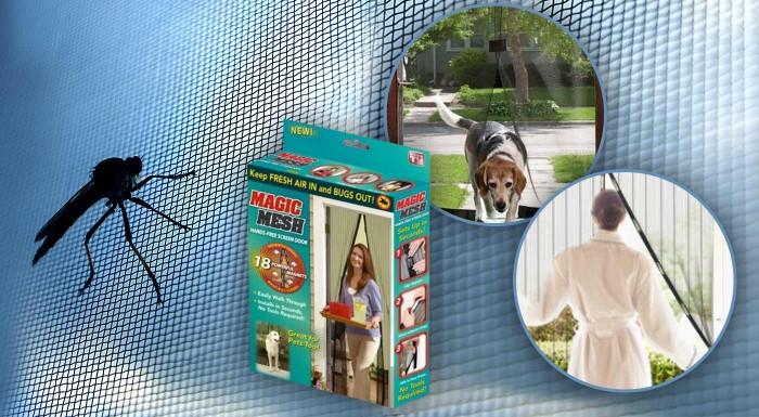 Fotka zľavy: Praktická samozatváracia sieťka proti hmyzu do vášho domu len za 8,90 €. Šikovný pomocník vás zbaví nepríjemných komárov, dotieravých múch a ďalšieho otravného hmyzu!