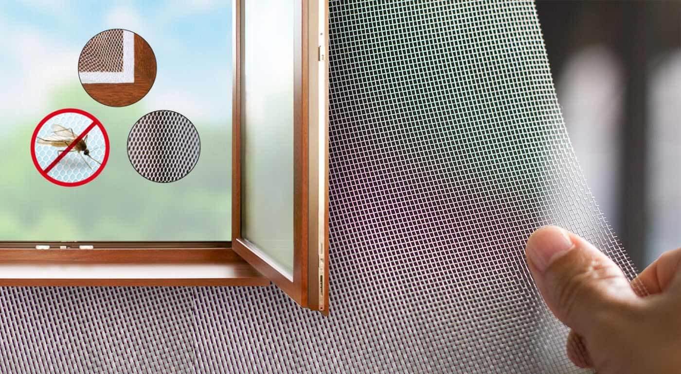 Nalepovacia sieťka proti hmyzu na okno - systém upevnenia cez suchý zips!