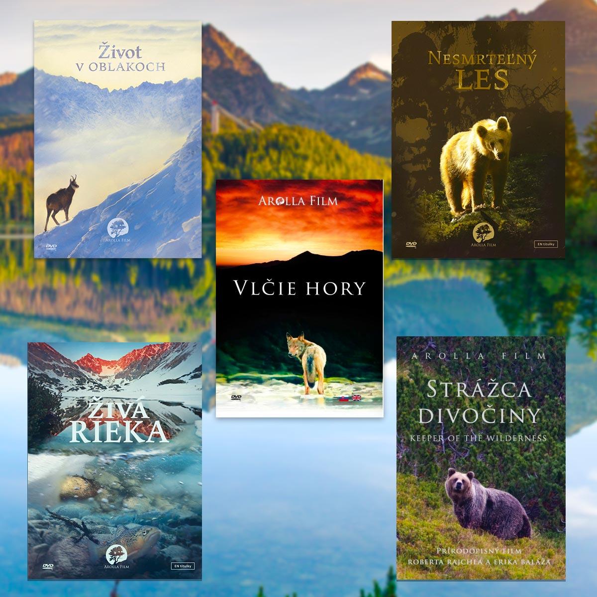 DVD kolekcia: Strážca divočiny, Nesmrteľný les, Vlčie hory, Život v oblakoch, Živá rieka