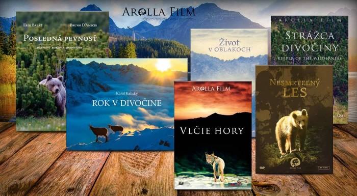 Preniknite do rozmanitého a divokého sveta, ktorý sa riadi zákonmi prírody. Vysoko oceňované knihy a filmy od Arolla Film nesmú chýbať v knižnici žiadneho milovníka prírody.