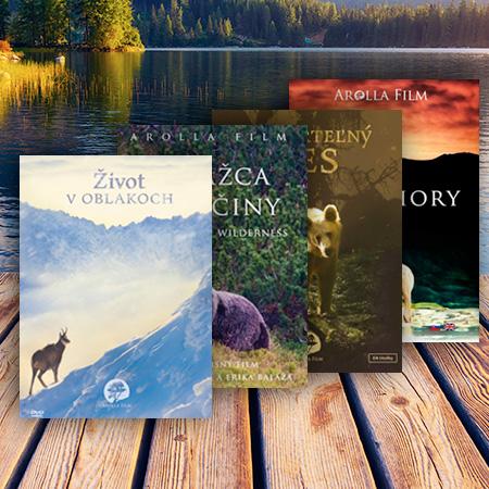 DVD kolekcia: Strážca divočiny, Nesmrteľný les, Vlčie hory, Život v oblakoch