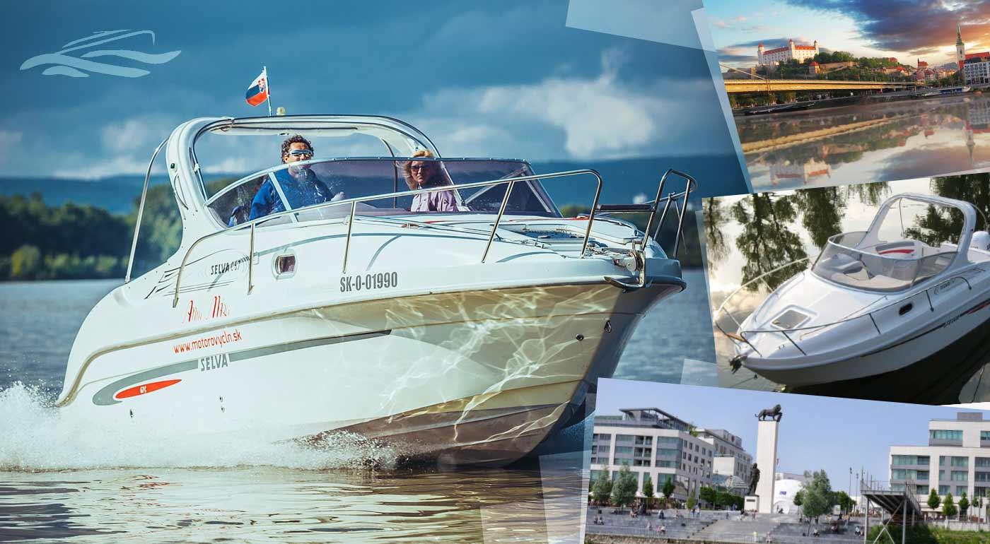 Fotka zľavy: Brázdite Dunaj na motorovom člne pre 6 osôb
