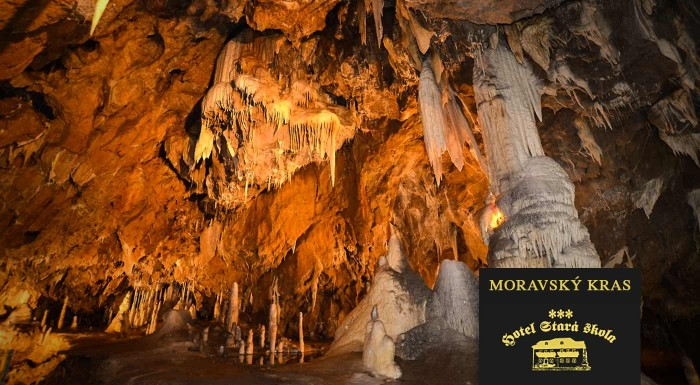 Fotka zľavy: Úchvatné jaskyne, hlboké priepasti, honosné zámky a neskutočná príroda. Spoznajte všetky poklady, ktoré ukrýva Moravský Kras na pobyte v Hoteli Stará Škola s polpenziou a bowlingom.