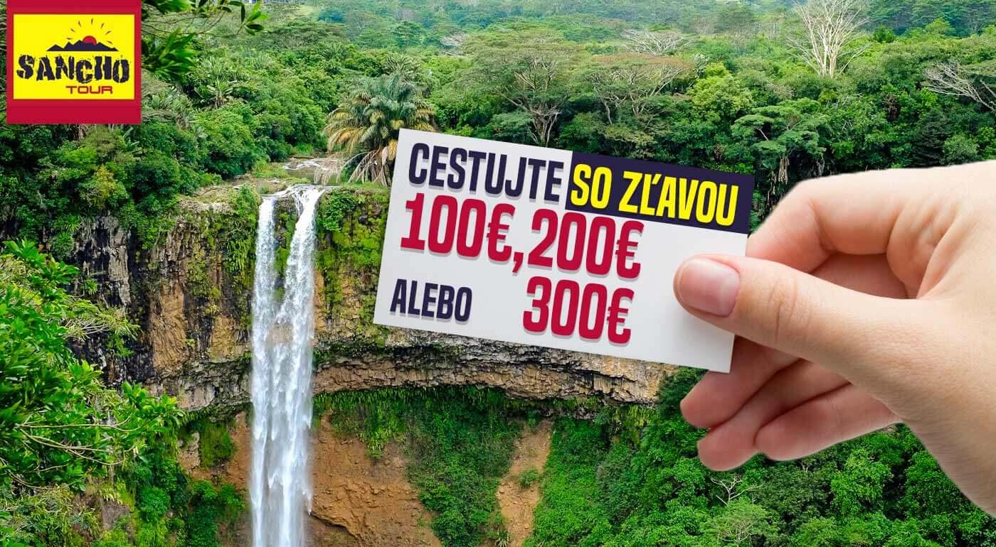 Cestujte do celého sveta so super zľavou. Kupóny na zľavu 100, 200 alebo 300 € zo všetkých zájazdov CK Sancho Tour.