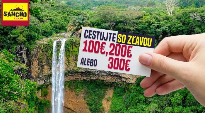 Fotka zľavy: Cestujte do celého sveta so super zľavou. Kupóny na zľavu 100, 200 alebo 300 € zo všetkých zájazdov CK Sancho Tour.