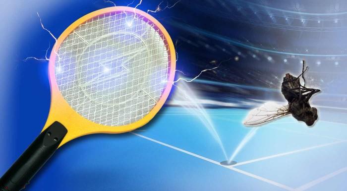 Fotka zľavy: Muchy a komáre, traste sa! Precvičte si váš bekhend či forhend s touto praktickou mucholapkou v tvare rakety. Vyzbrojte sa účinným bojovníkom v boji proti hmyzu.
