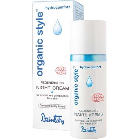 ORGANIC STYLE hydrocomfort Regeneračný nočný krém pre normálnu a zmiešanú pleť (50 ml)