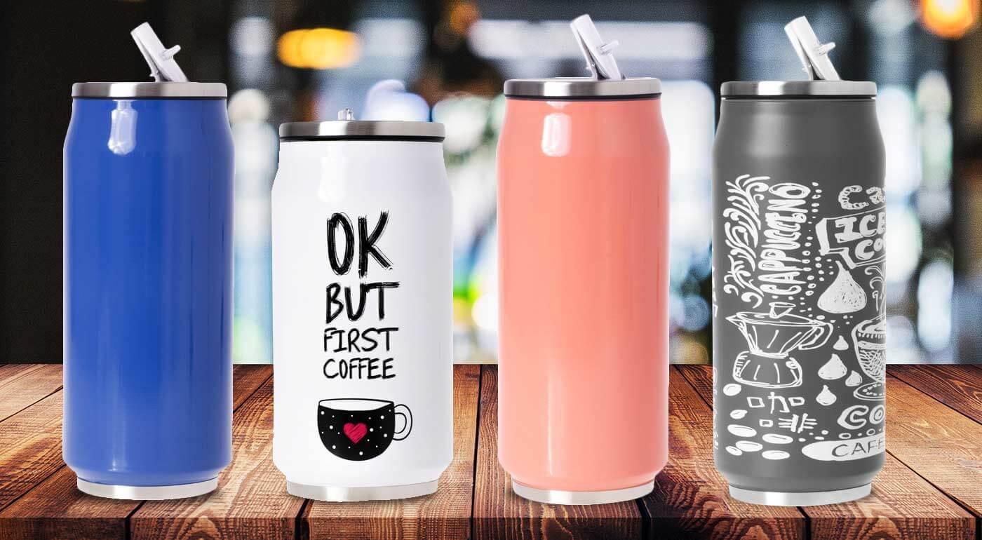 Termohrnčeky na chladené nápoje, v rôznych farbách a veľkostiach. Vykročte do rozohriatych ulíc s vychladeným osviežením a dizajnovým doplnkom.