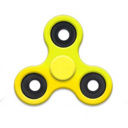 Fidget Spinner plastový - farba žltá