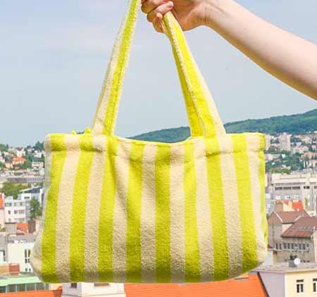 Home Line Jacquelin 2v1 Mikrovláknová osuška v tvare tašky - farba žltá