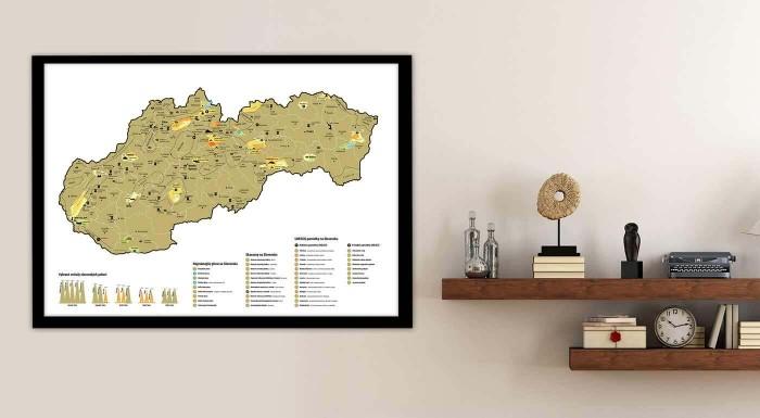Zaznačte si navštívené miesta Slovenska na stieracej mape, ktoré obsahuje hrady, zámky, jaskyne, národné parky a ďalšie zaujímavé miesta. Skvelý tip na darček nielen pre cestovateľov!