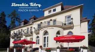 Zľava 47%: Pohodlné ubytovanie v obľúbenom Penzióne Karpatia na 4 dni pre 1 osobu. Užite si rodinnú atmosféru, pekné prostredie a čarovné kúzlo Vysokých Tatier.