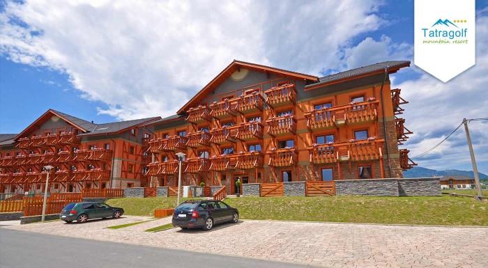 Fotka zľavy: Príďte si užiť krásy tatranskej jesene do apartmánov Tatragolf Mountain Resort vo Veľkej Lomnici na 3,4 alebo 7 dní pre dvoch. K tomu zľava na masáže, do aquaparku a wellness.