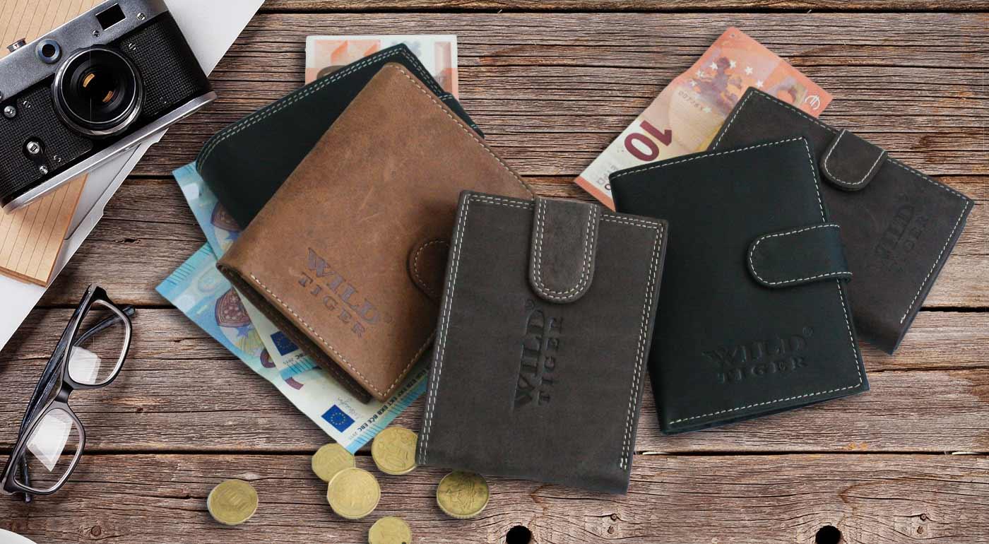 Kvalitné pánske peňaženky WILD Tiger