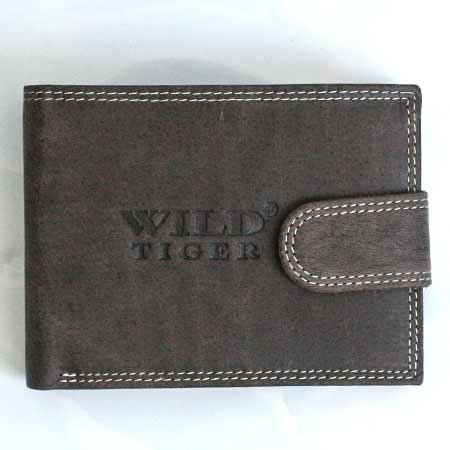 Pánska kožená peňaženka WILD na šírku - tmavohnedá