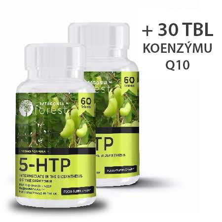 2x prírodný doplnok 5-HTP 100 mg - balenie 60 tabliet + darček balenie 30 tabliet koenzýmu Q10