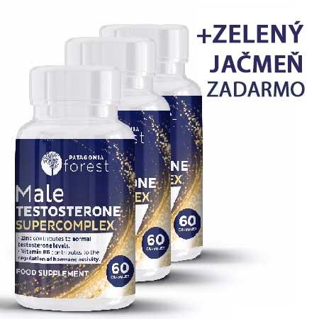 3x testosterónový superkomplex - balenie 60 kapsúl + supernutričný komplex vitamínov mladý jačmeň 125g