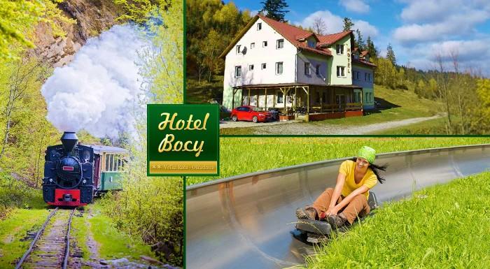 Fotka zľavy: Letný pobyt na Kysuciach. Užite si naplno 3 alebo 4 dni v Hoteli Bocy Veľká Rača - Oščadnica s raňajkami, fínskou saunou a biliardom. Dieťa do 12 rokov ubytovanie zadarmo!