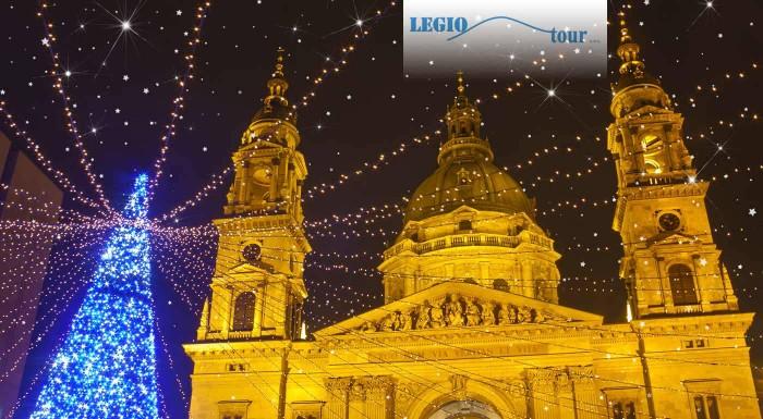 Fotka zľavy: Užite si vianočnú atmosféru Budapešti a naplňte si bruchá fantastickými špecialitami na vianočných trhoch v tejto vysvietenej metropole Maďarska.