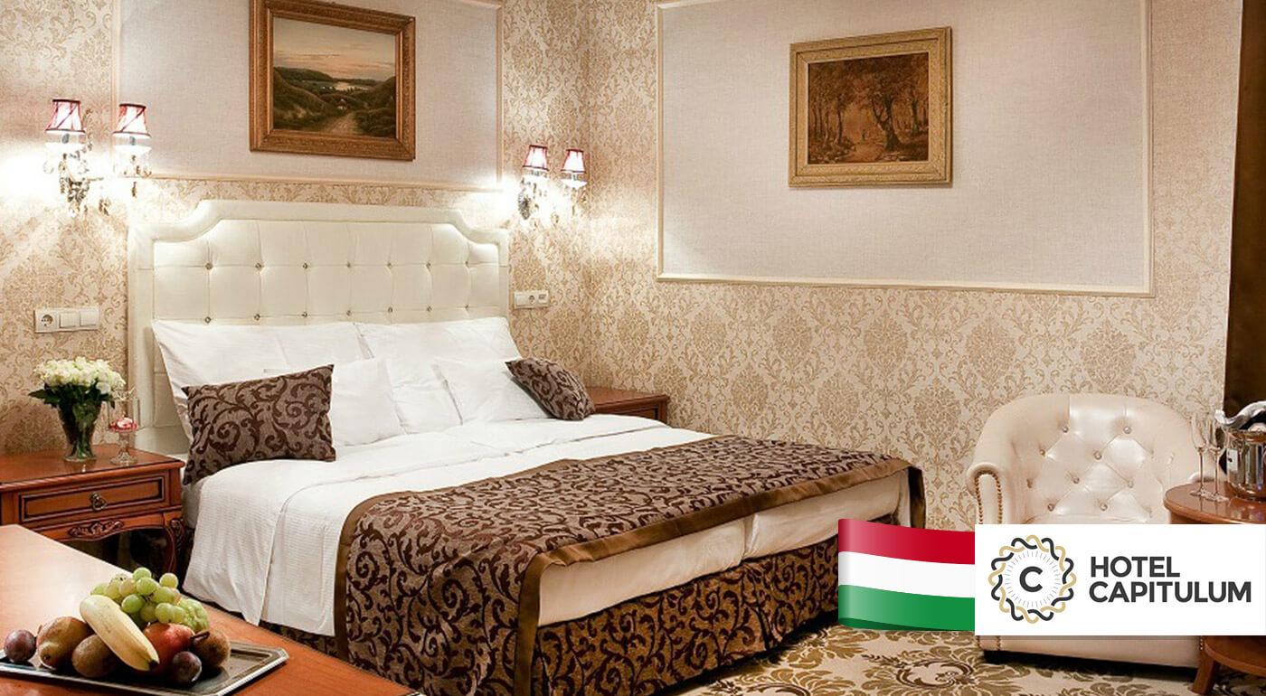 Maďarsko: Wellness rozmaznávanie pre dvoch na 3 dni v Hoteli Capitulum**** v centre Győru