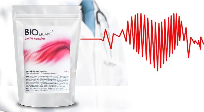 Výživový doplnok v prášku BIOquant amino komplex, ktorý znižuje krvný tlak a napomáha zdraviu ciev. Urobte niečo pre svoje zdravie a predchádzajte infarktu či ateroskleróze.