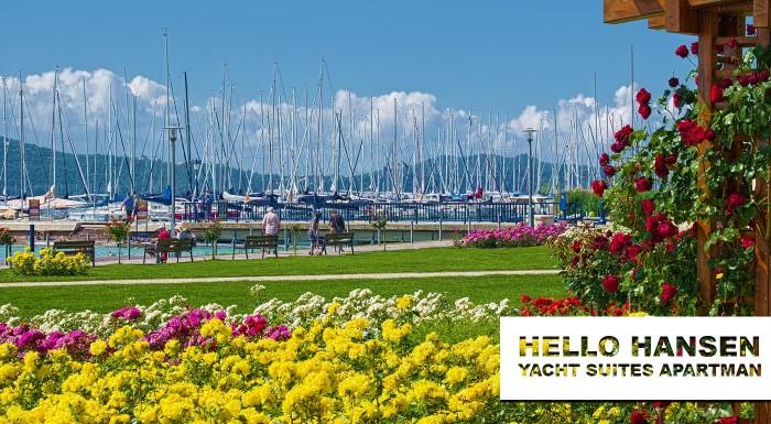 Fotka zľavy: Nemáte čas na dovolenku pri mori? Užite si 4-dňový oddych pri Balatone v luxusnom Hello Hansen Yacht Suites Apartmáne priamo pri brehu najväčšieho jazera v Maďarsku.