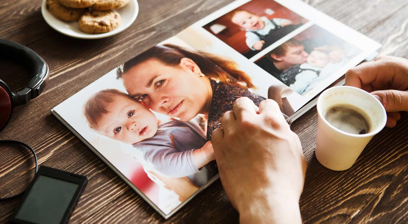 Fotoknihy v tvrdých doskách v rôznych veľkostiach a rozsahoch