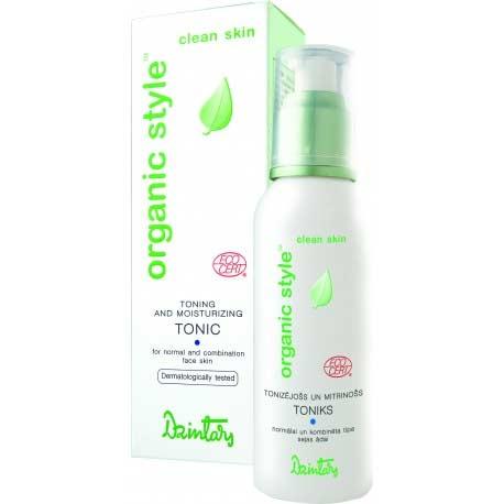 ORGANIC STYLE clean skin Tónujúce a hydratačné tonikum pre normálnu a zmiešanú pleť (150 ml)