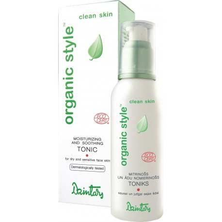 ORGANIC STYLE clean skin hydratačné a upokojujúce tonikum pre suchú a citlivú pleť (150 ml)