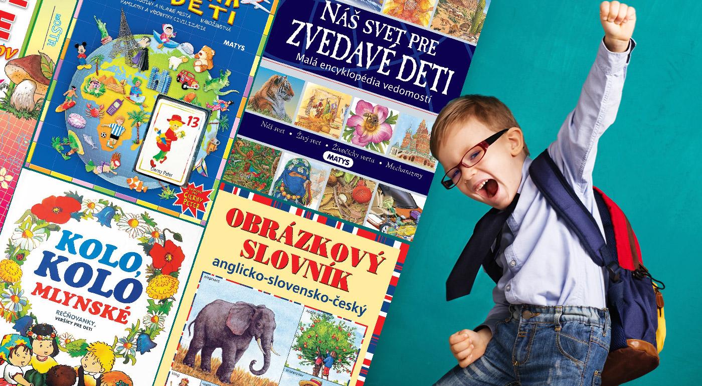 Fotka zľavy: Nádherne ilustrované knižky z vydavateľstva Matys sa stanú vernými priateľmi všetkých malých školákov či predškolákov. Vaše deti si osvoja základy angličtiny, abecedu alebo čísla hravým spôsobom.
