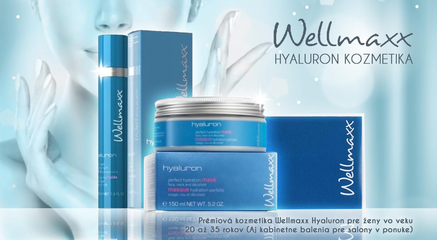 Prémiová kozmetika Wellmaxx Hyaluron pre ženy vo veku 20 až 35 rokov - aj kabinetné balenia pre salóny v ponuke