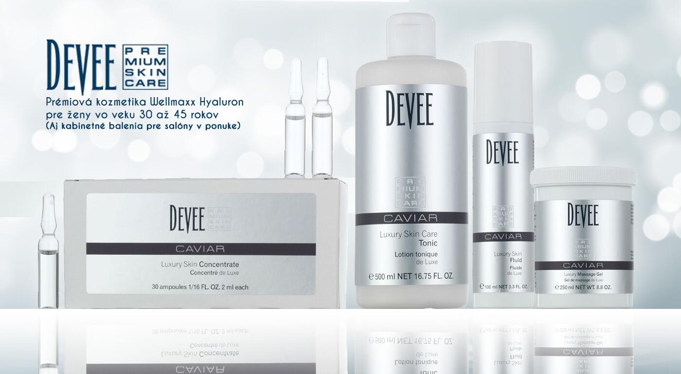 Luxusná starostlivosť o pleť s kozmetikou Devee Caviar pre ženy vo veku 30 - 45 rokov s obsahom kaviáru - v ponuke aj kabinetné balenia pre salóny