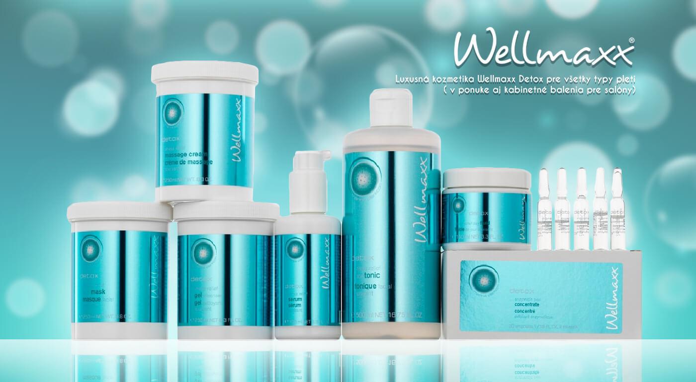 Krásna a mladistvá pleť vďaka luxusnej kozmetike Wellmaxx Detox pre všetky typy pleti - v ponuke aj kabinetné balenia pre salóny