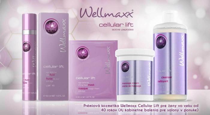 Fotka zľavy: Luxusná kozmetika Wellmaxx Cellular Lift ponúka špičkovú starostlivosť o zrelú pleť. Vyberte si z ponuky prípravkov nemeckej značky s obsahom peptidov účinných proti starnutiu pokožky.