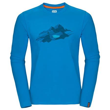Pánske tričko Zajo Bormio LS Blue Jewel Nature - veľkosť M
