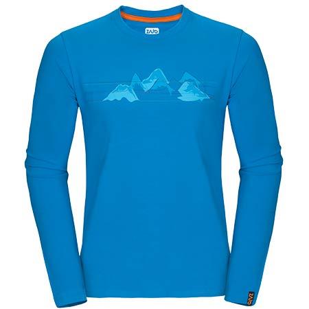 Pánske tričko Zajo Bormio LS Blue Jewel Mountains - veľkosť M