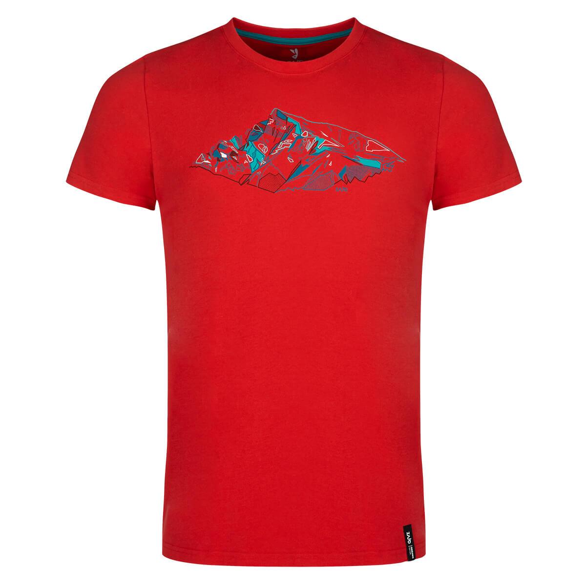 ZAJO Bormio T-Shirt SS pánske tričko Racing Red Peak - veľkosť S