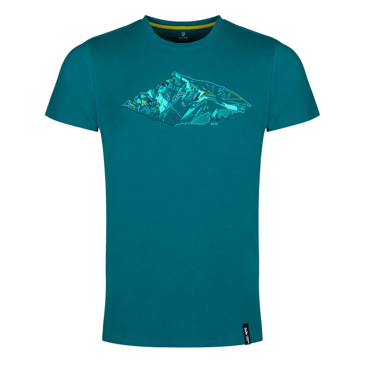ZAJO Bormio T-Shirt SS pánske tričko Deep Lagoon Peak - veľkosť L