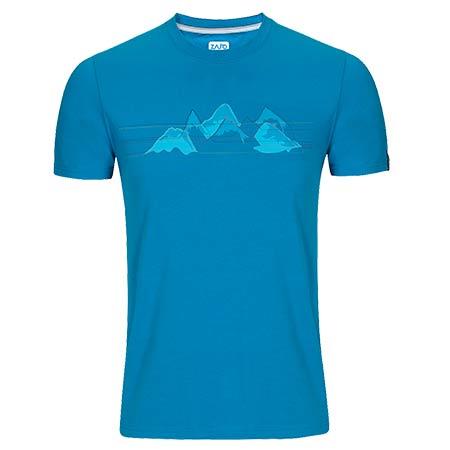 Pánske tričko Zajo Bormio Blue Jewel Nature - veľkosť M