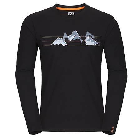 Pánske tričko Zajo Bormio LS Black Mountains - veľkosť S