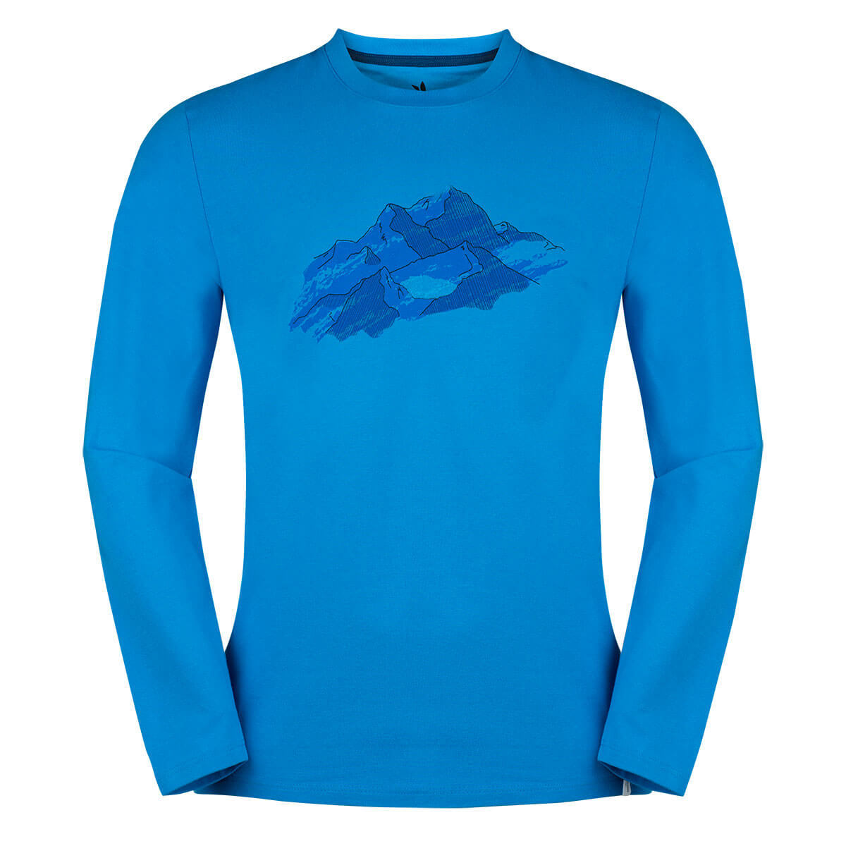 Pánske tričko Zajo Bormio LS Blue Nature - veľkosť S