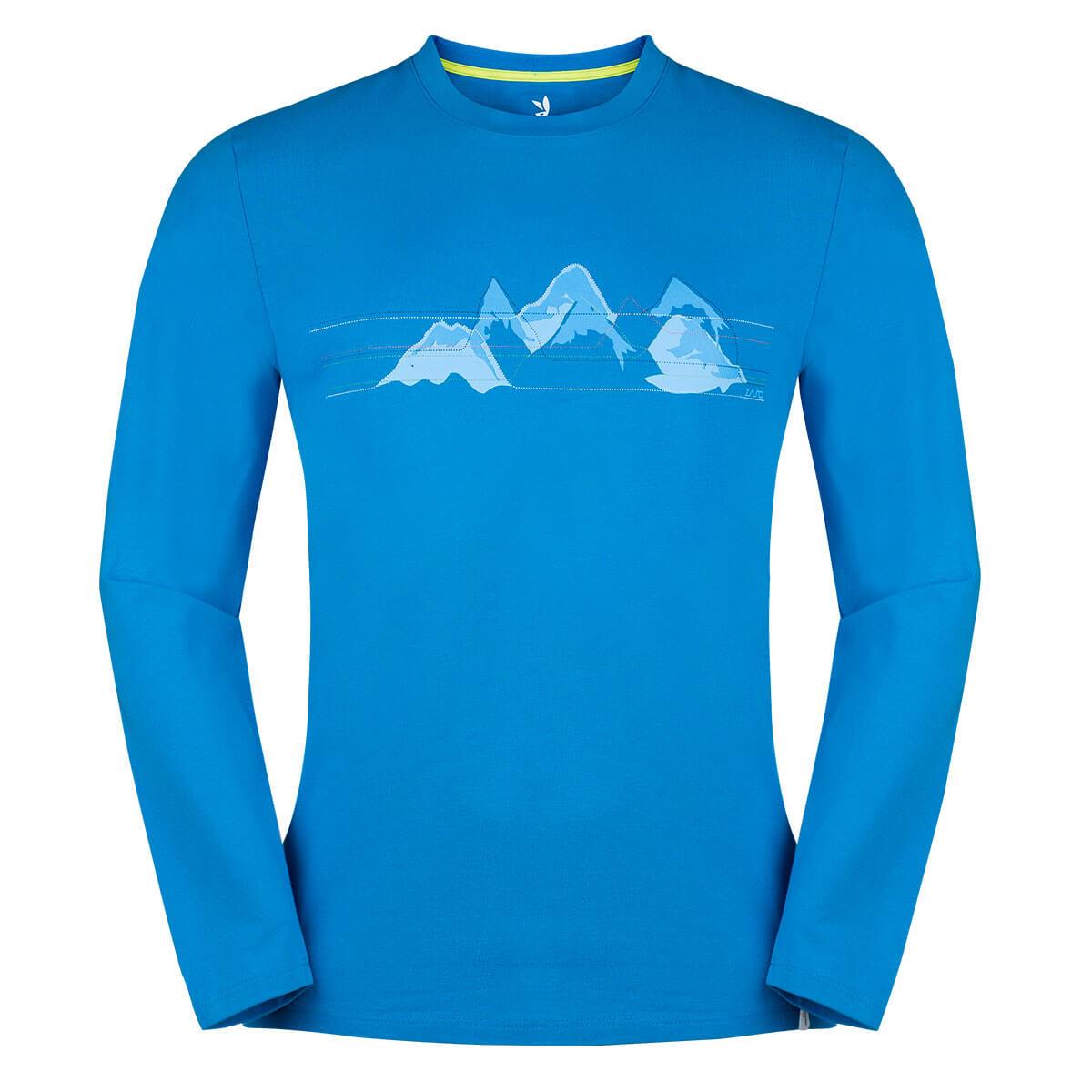 Pánske tričko Zajo Bormio LS Ibiza Blue Mountains - veľkosť S