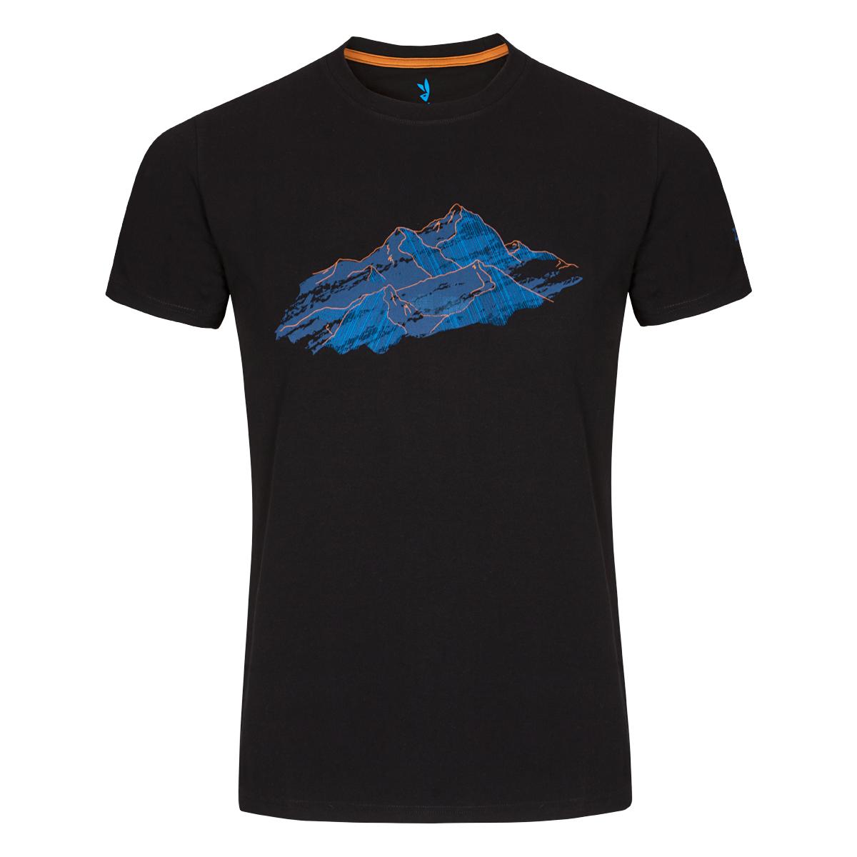Pánske tričko ZAJO Bormio Black Nature SS - veľkosť S