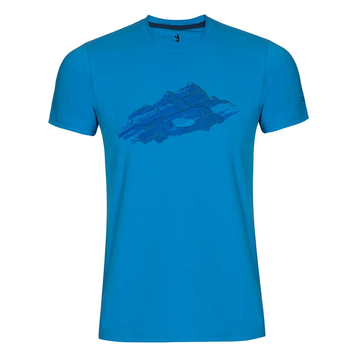 Pánske tričko ZAJO Bormio Ibiza Blue Nature SS - veľkosť S