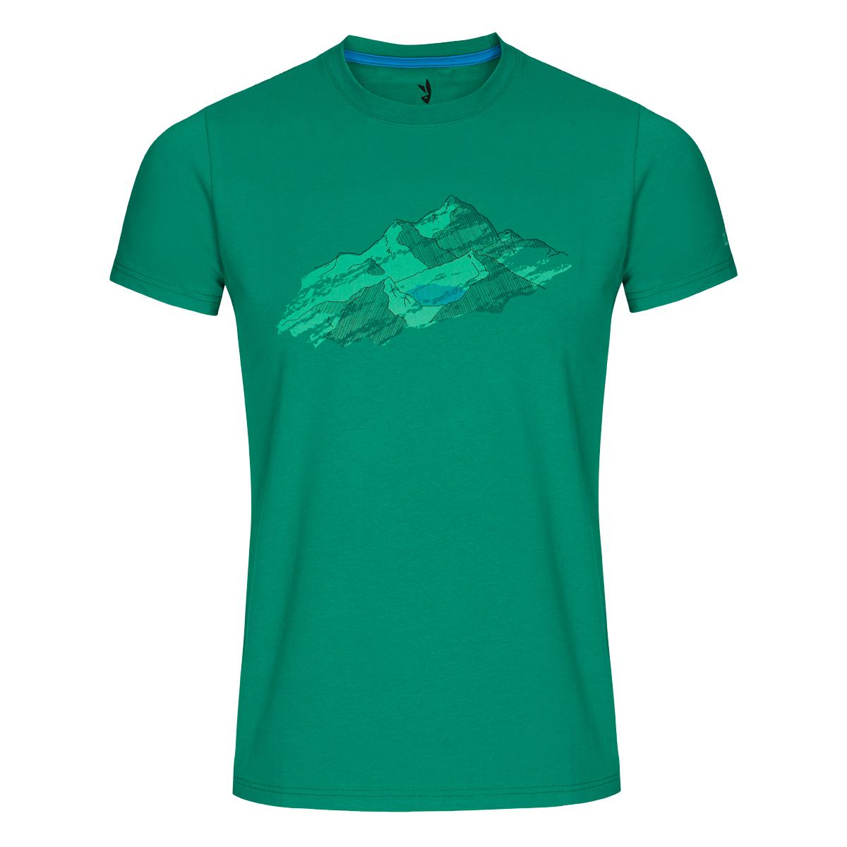 Pánske tričko ZAJO Bormio Grass Green Nature SS - veľkosť S